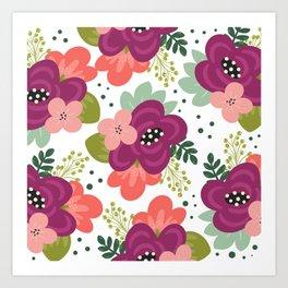 Blooming Florals Art Print
