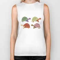 turtles Biker Tanks featuring Turtles by TypicalArtGuy