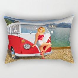 Holiday on Lake Garda in 1959 Rectangular Pillow