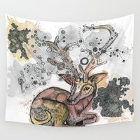 fawn Wall Tapestries featuring Fawn by Pfirsichfuchs