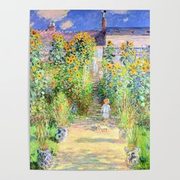 Monets Garden at Vetheuil Poster