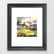 Heron Wetlands Framed Art Print