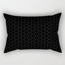 Black Hexagons - simple lines Rectangular Pillow