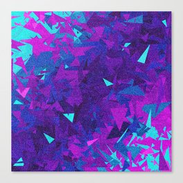 Pink, Purple, and Blue Triangles 2 Canvas Print