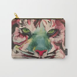 Watercolor tiger face Carry-All Pouch