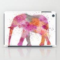 artsy iPad Cases featuring Artsy Elephant by LebensART