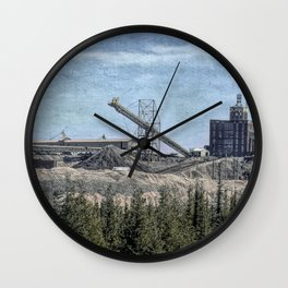 Limestone Quarry Wall Clock
