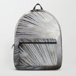 The white peacock Backpack