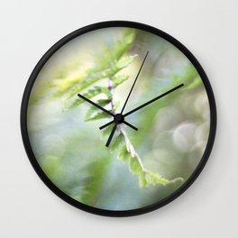 Summer Fern Wall Clock