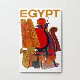 Vintage Egypt Headdress Travel Metal Print