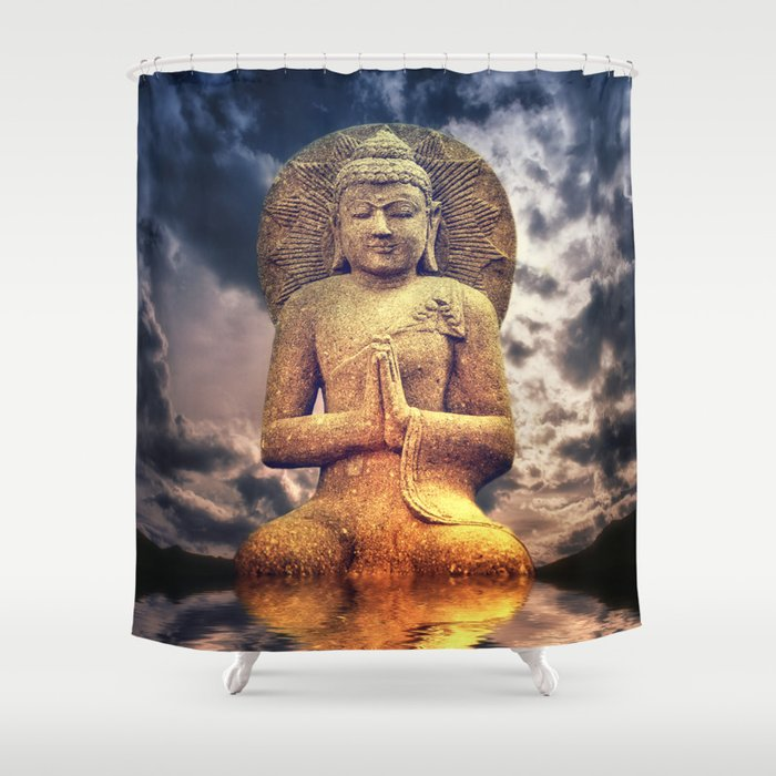 The Buddha Shower Curtain By Addesignphotophotoart
