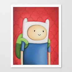 Finn Adventure Time Canvas Print