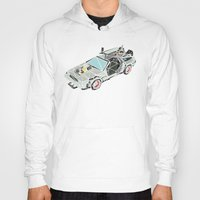 delorean Hoodies featuring The Delorean by Josh Ln