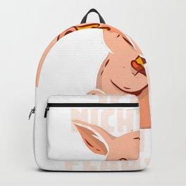 Piggy - Ich bin nicht dick ich bin flauschig Backpack