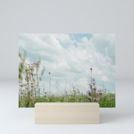 Wildflower Sky - Clouds and Flowers Mini Art Print