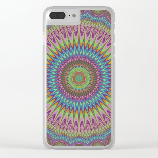 Psychedelic mandala Clear iPhone Case