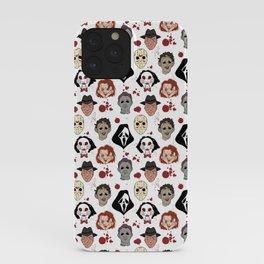 Horror Villains Pattern iPhone Case