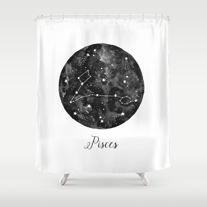 Pisces Constellation Shower Curtain By Amynelson