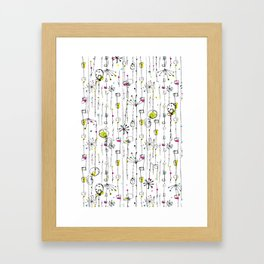 Quirky Icons Framed Art Print