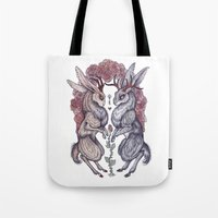 rare Tote Bags featuring Rare Hearts by Caitlin Hackett