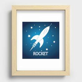 Rocket Recessed Framed Print