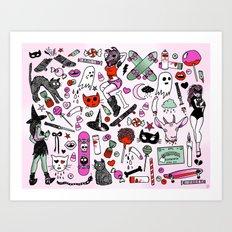 CREEPY CRUISERS Art Print