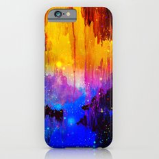 CASTLES IN THE MIST Magical Abstract Acrylic Painting Mixed Media Fantasy Cosmic Colorful Galaxy  iPhone 6 Slim Case