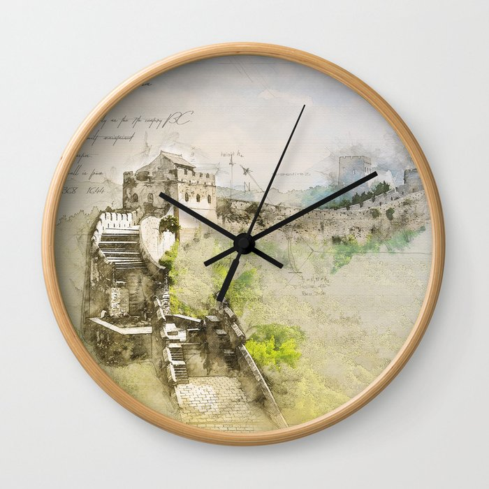 Great Chinese Wall Wall Clock