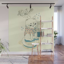 kitty with a shirt Wall Mural
