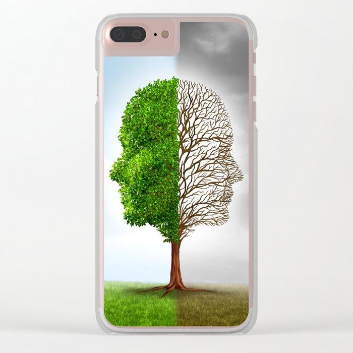 Seasons Tree Clear iPhone Case