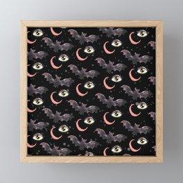 halloween bat pattern Framed Mini Art Print