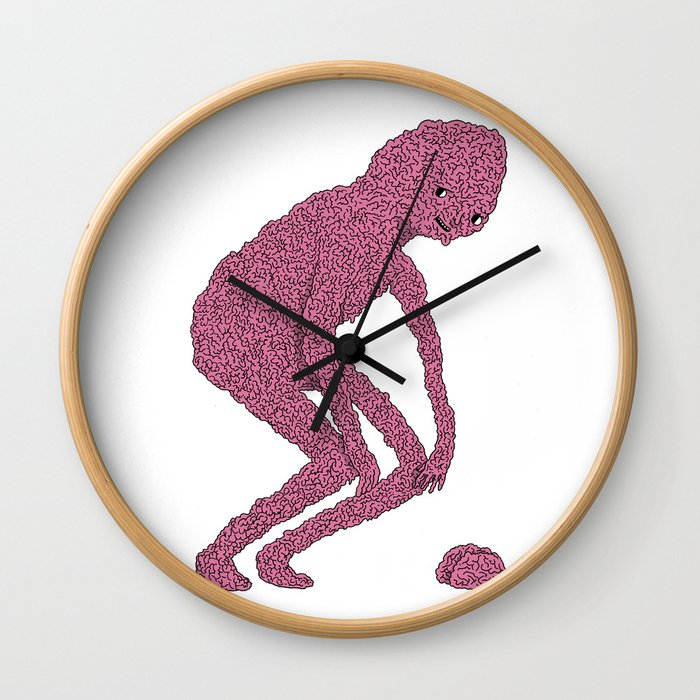 Brain man Wall Clock