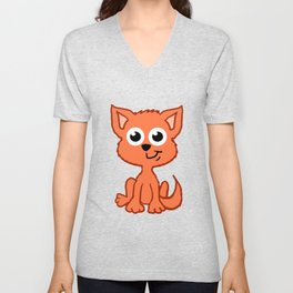 Little Fox  Unisex V-Neck