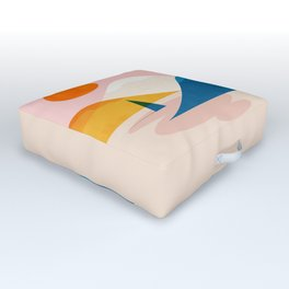 Abstraction_Lake_Sunset_Minimalism_002 Outdoor Floor Cushion