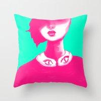 contemporary Throw Pillows featuring Contemporary Collar by Ben Geiger