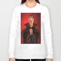 dracula Long Sleeve T-shirts featuring Dracula by Niniel