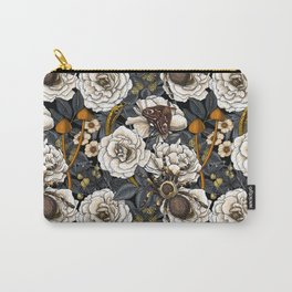 Dream garden white, yellow and gray Carry-All Pouch