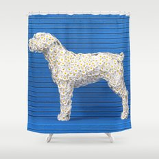 Daisy Dog Shower Curtain