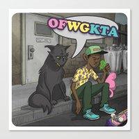 odd future Canvas Prints featuring Tyler, The Creator of Odd Future OFWGKTA by Donta Santistevan