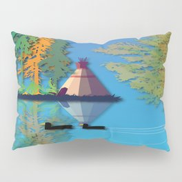 Land Of The American Natives No. 5 Pillow Sham