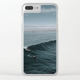Summer Surf Session Clear iPhone Case