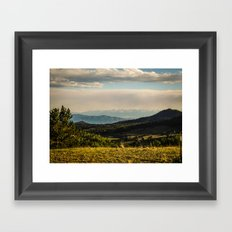 The Mountains Are Calling - Colorado Framed Art Print