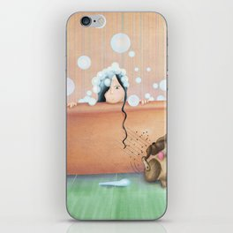 Bath Time! iPhone Skin