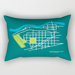 Brownes Addition / Peaceful Valley, Spokane Rectangular Pillow