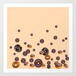 LOVE MY CHOCOLATE  DONUTS Art Print