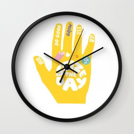 Seize the day – Sunshine hand Wall Clock