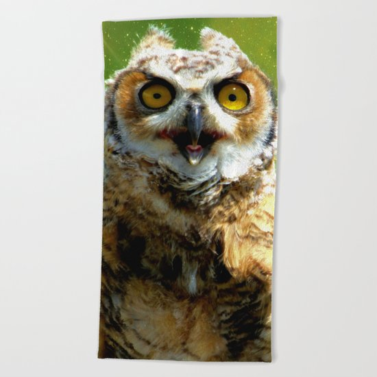 Twinkle twinkle little owl Beach Towel