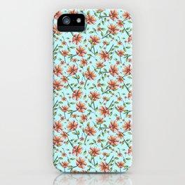 Lluvia de flores iPhone Case