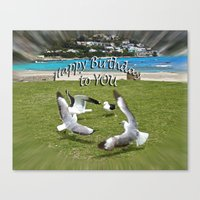 happy birthday Canvas Prints featuring Happy Birthday by CrismanArt