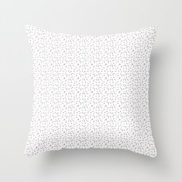 Green leaves on a seamless white background Throw Pillow